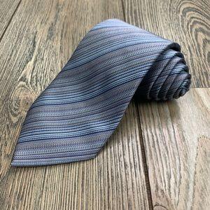 Hermès Paris 100% Silk Pinstriped Tie.